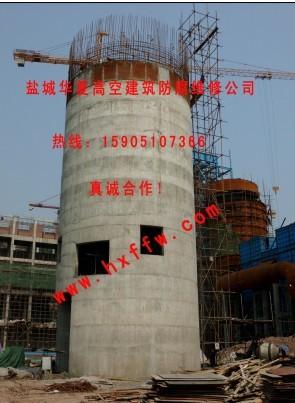 一个圆柱形的铁皮烟囱